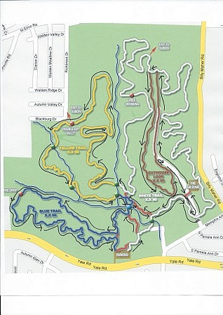 The course loop for the 2014 Stanky Creek Marathon and Half